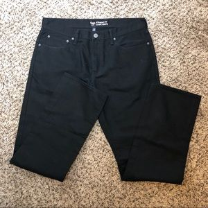 [GAP] Straight Fit Black Jeans